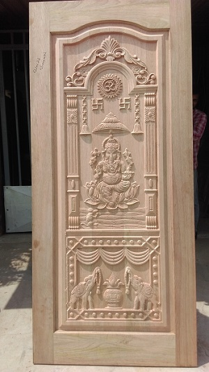 Single Panel Door Carving